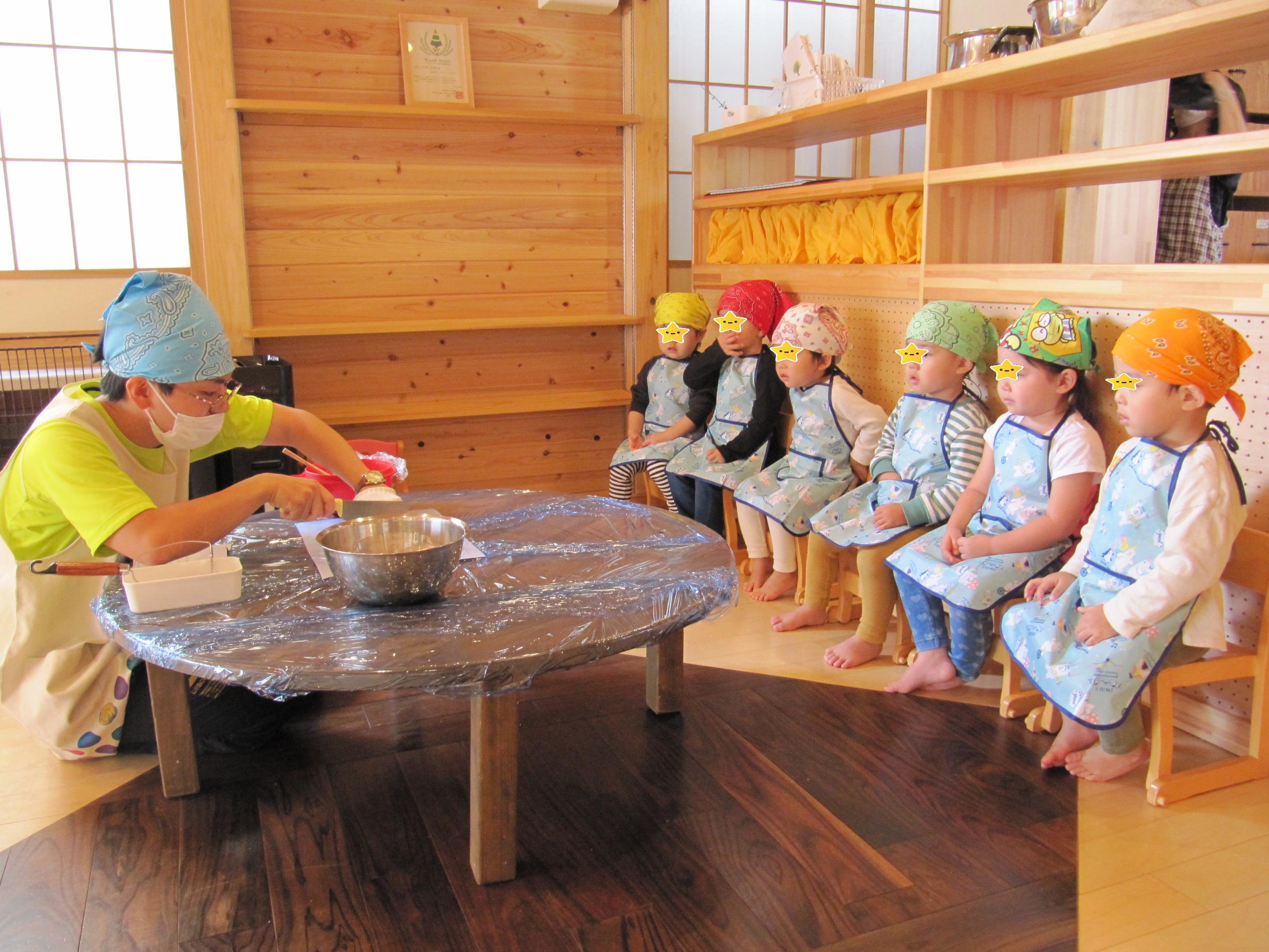 屯田園 くるみ組😊(2歳児クラス) 9月じゃがいもクッキング😊